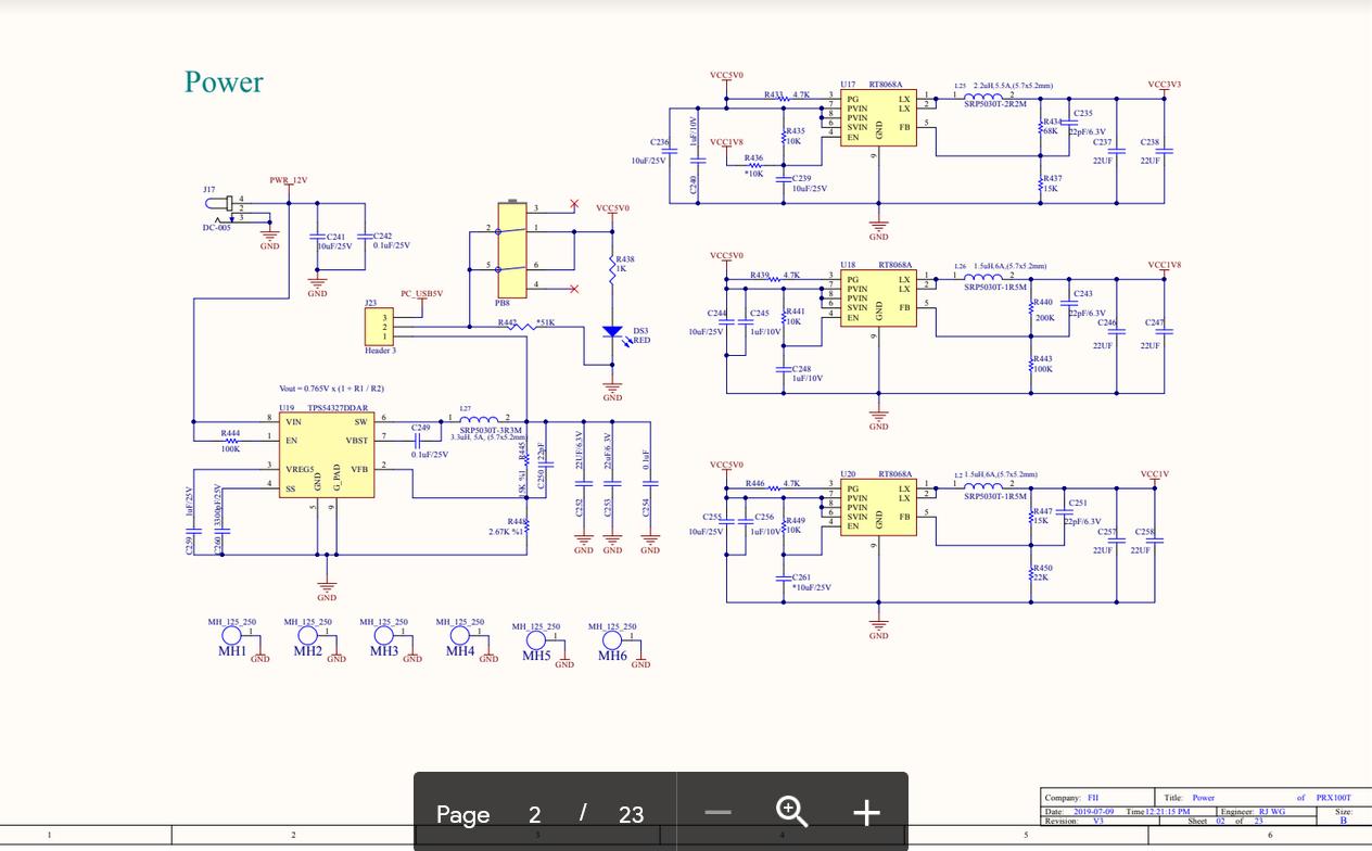 RISC-V Power Schematics