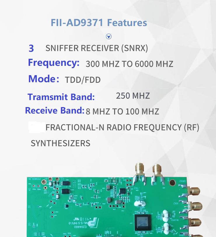 ADRV9371-W RFIF RFID Features