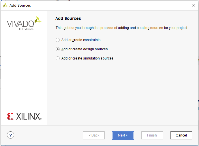 Add Sources dialog box