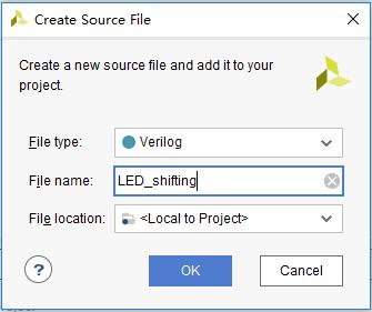 Create Source File dialog box