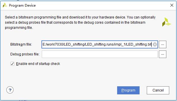 Program Device dialog box