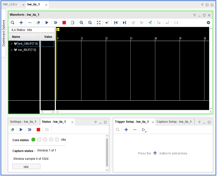 ILA debugging interface